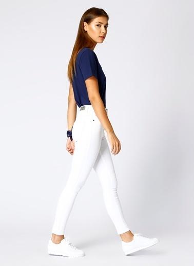 Mustang Mustang Skinny Beyaz Denim Pantolon Beyaz
